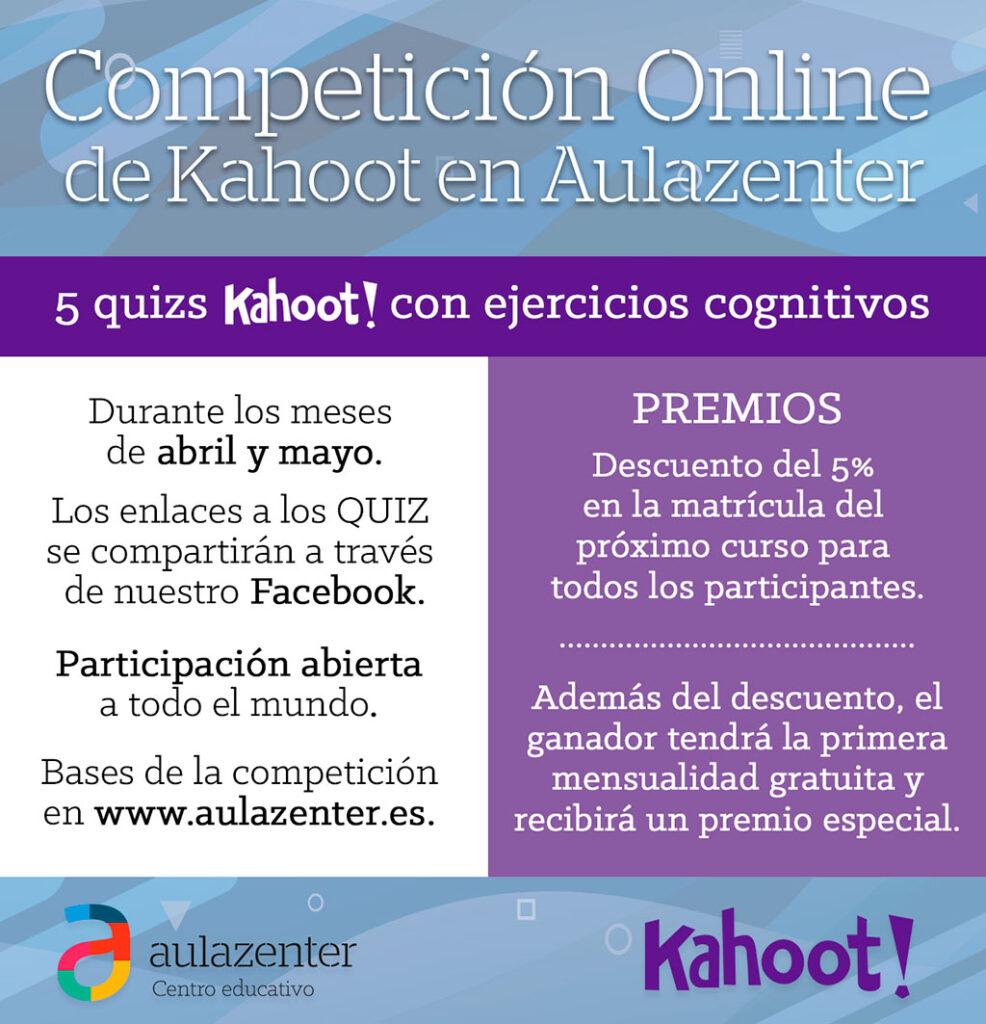 Competición Online Kahoot en Aulazenter